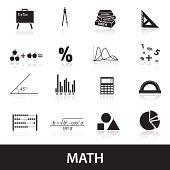 mathematics icons set eps10