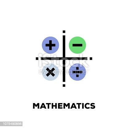 Mathematics Line Icon
