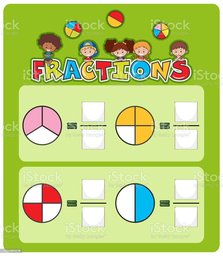 Mathematics Matching Worksheet Template Stock Vector Art & More ...
