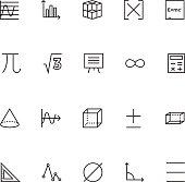 Mathematics Vector Icons 2