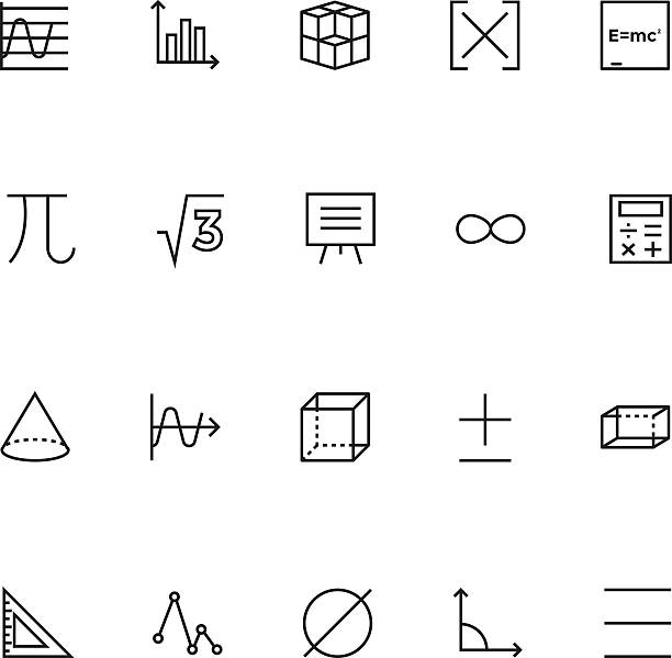 Mathematics Vector Icons 2 Here is a useful and trendy Mathematics vector icon pack. Hope you can find a great use for them in math, study and education visuals. right angle stock illustrations