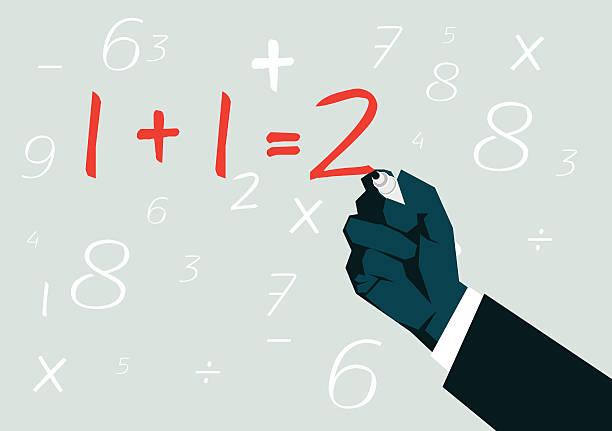mathematikstunde - buchstabenschreibweise stock-grafiken, -clipart, -cartoons und -symbole