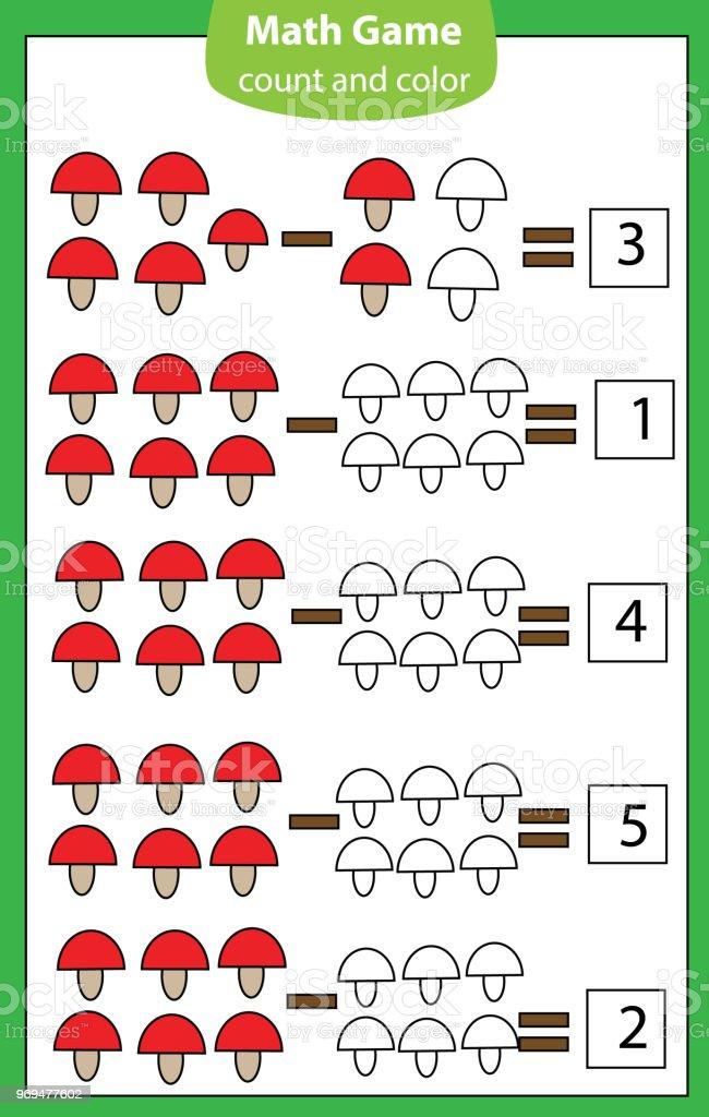 Mathematikarbeitsblatt Lernspiel Für Kinder Zählen Lernen ...