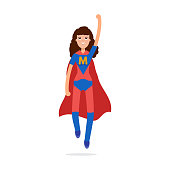 Mather superheroes. mom character. Vector illustration.