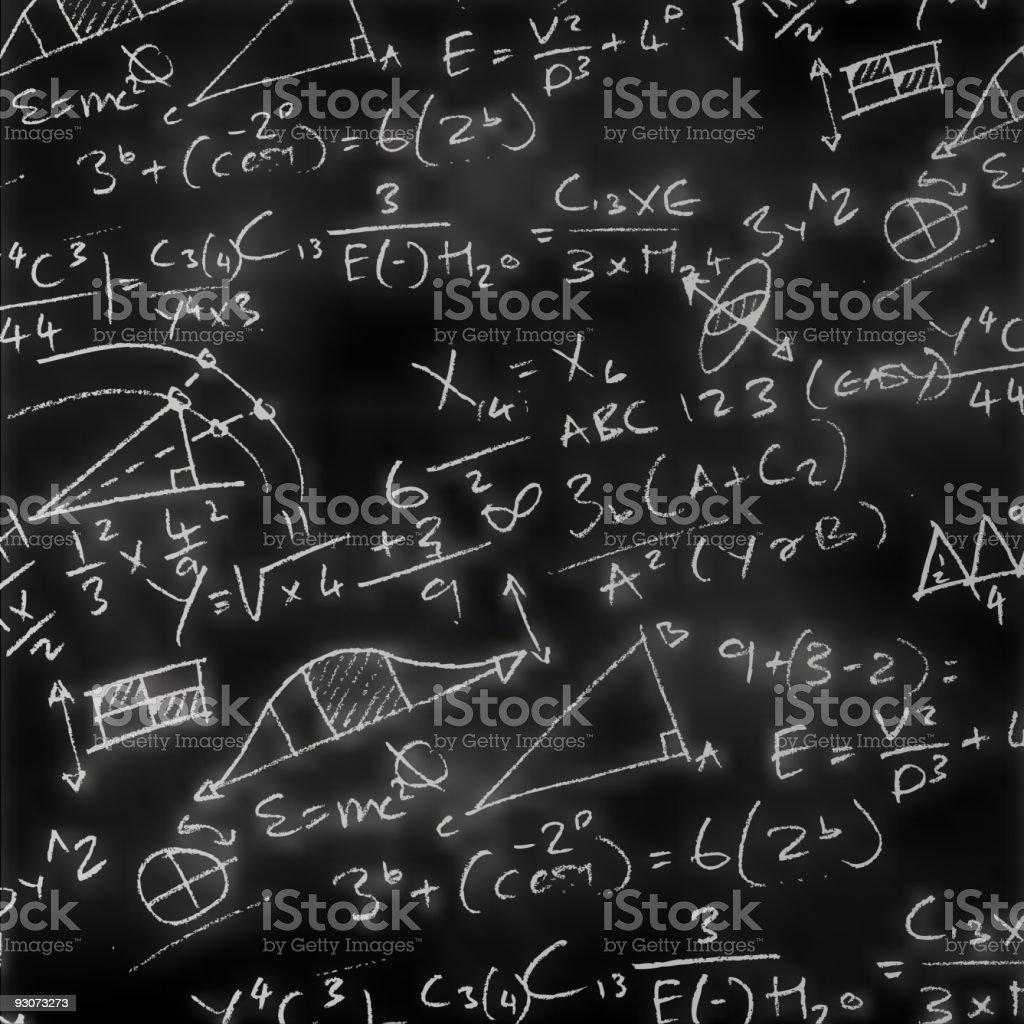 Maths Chalk Board vector art illustration