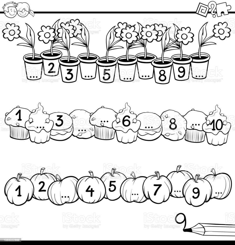 Ilustración De Matemáticas Educativas Contando Tarea Libro Para