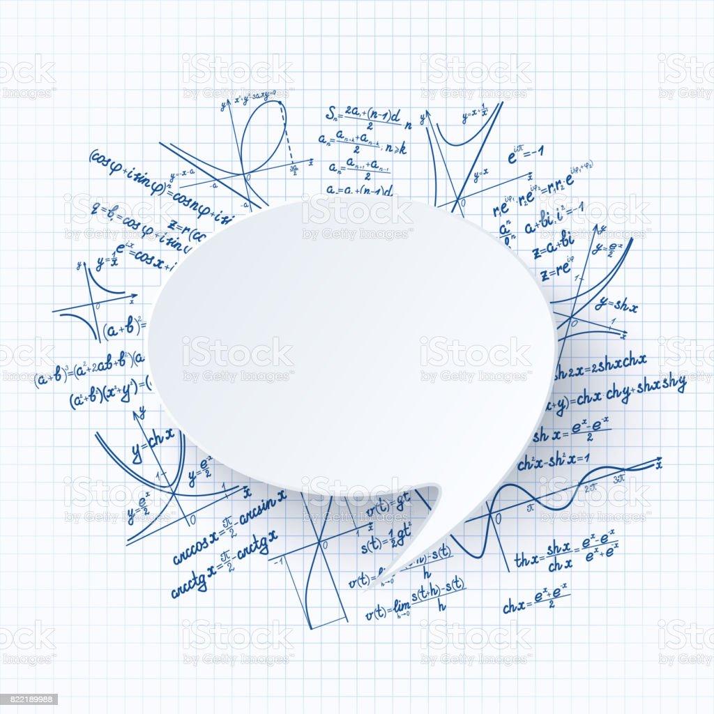 matemática seamless2 azul копия - ilustração de arte em vetor