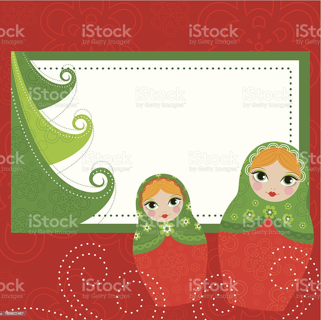 Matrioska Christmas Banner royalty-free stock vector art
