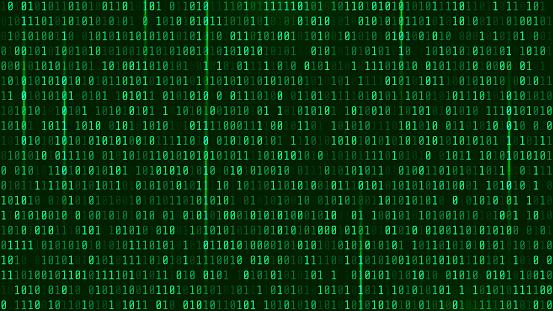 Matrix Background Style Computer Virus And Hacker Screen