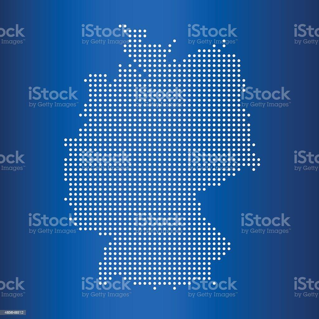 matrix Mapa do mapa da Alemanha - ilustração de arte em vetor