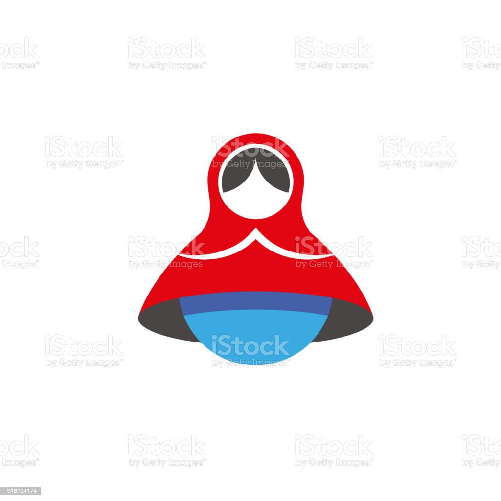 Matroschkaminimalistischsymbol Russische Puppe Emblem Vorlage Für ...