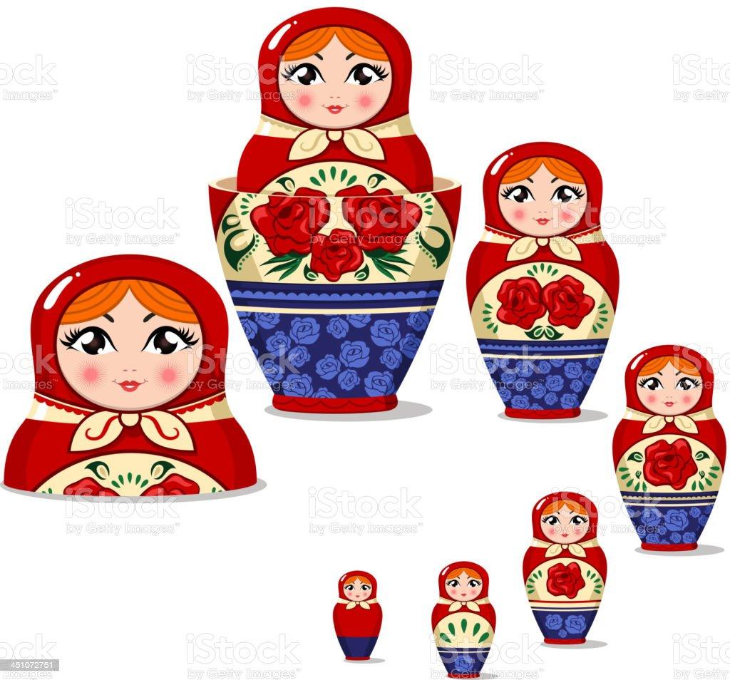 Matryoshka Russian nesting doll royalty-free stock vector art