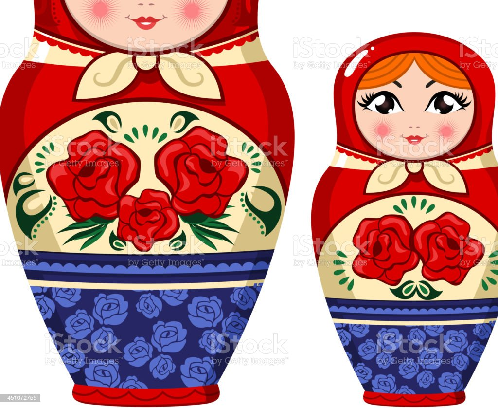Matryoshka Russian nesting doll royalty-free stock vector art