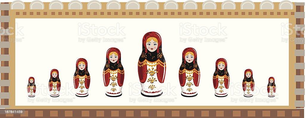 Matryoshka vector art illustration
