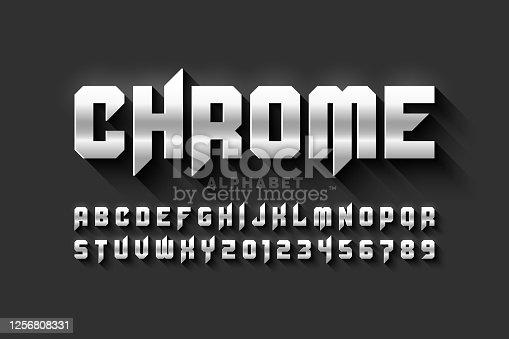 istock Matt chrome style 1256808331