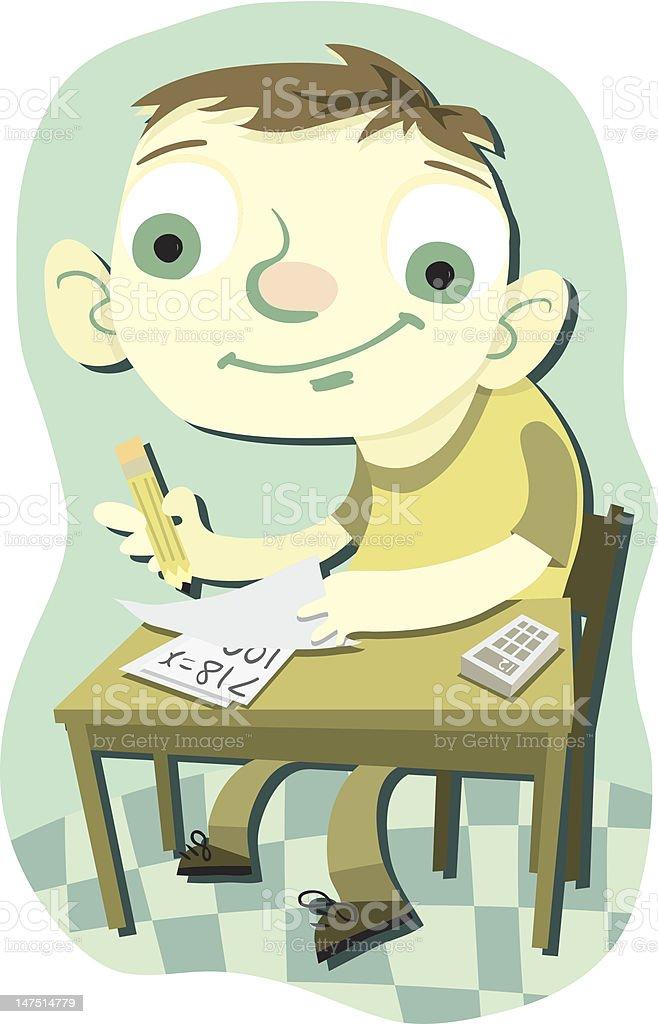 Matt Does Math vector art illustration