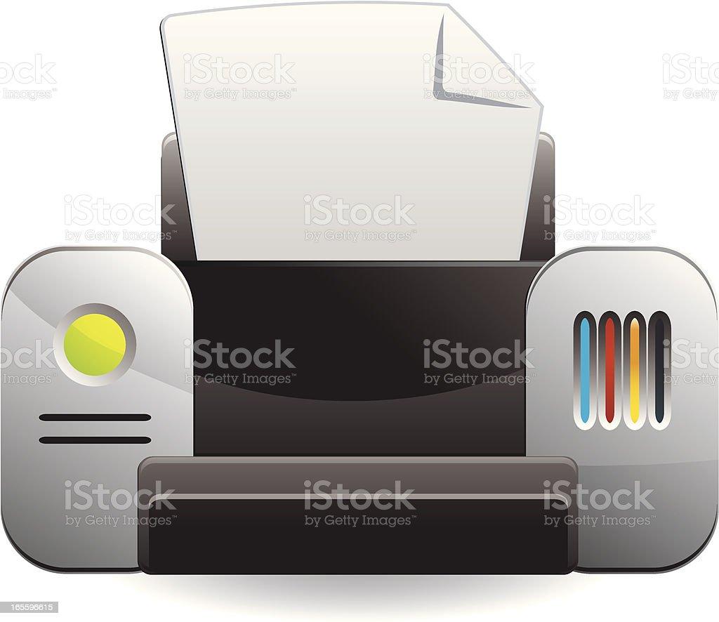 Matte Printer Icon royalty-free matte printer icon stock vector art & more images of clip art