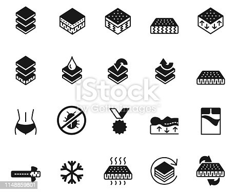 Mattress icon set , vector illustration