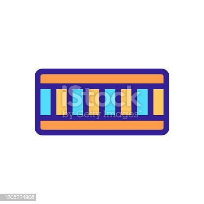 mattress icon vector. Isolated contour symbol illustration