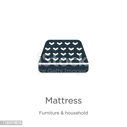 Mattress icon vector. Trendy flat mattress icon from furniture and household collection isolated on white background. Vector illustration can be used for web and mobile graphic design, logo, eps10