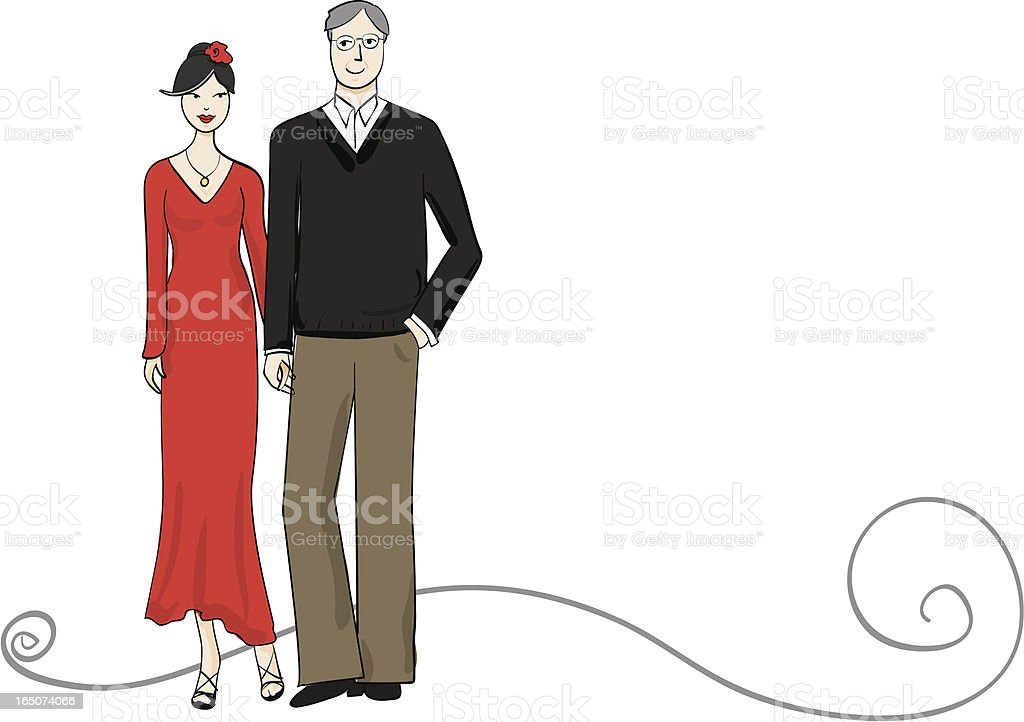 Mature Couple royalty-free stock vector art