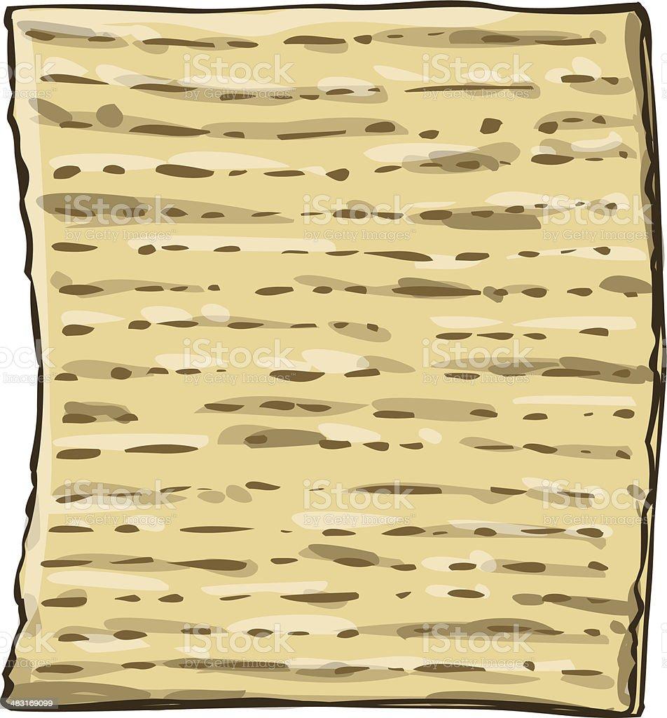 Matzah Matzo For Passover royalty-free stock vector art