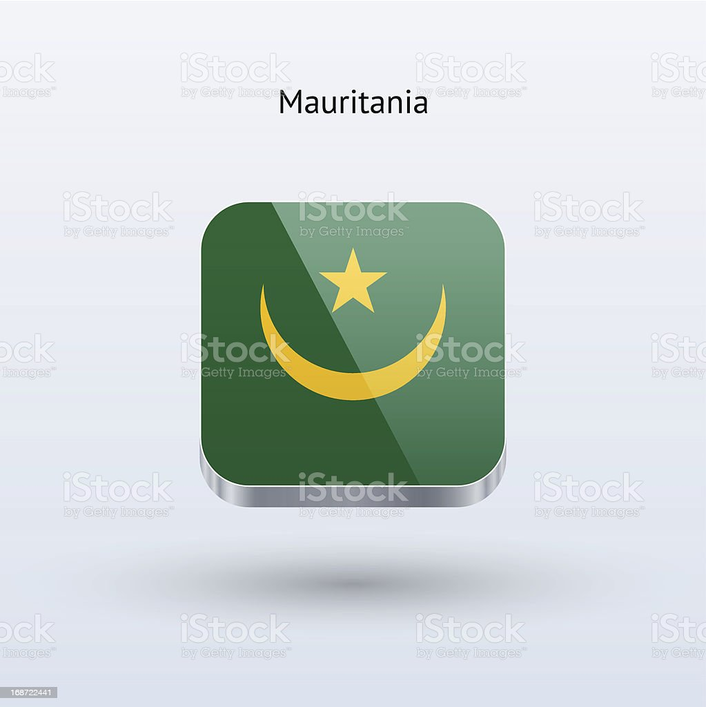 Mauritania Flag Icon royalty-free mauritania flag icon stock vector art & more images of clip art