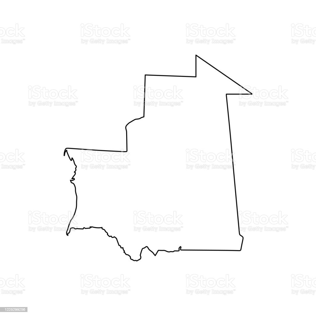 Picture of: Mauritania Map Line Outline Country Africa Map Illustration Vector African Isolated On White Background Stock Illustration Download Image Now Istock