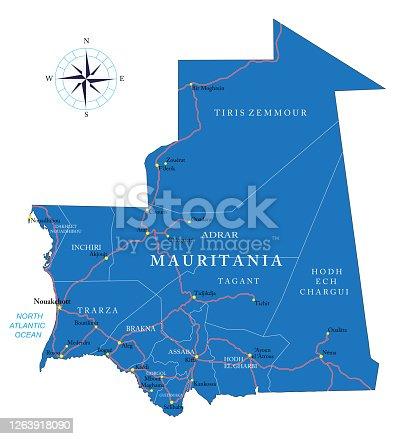istock Mauritania map 1263918090