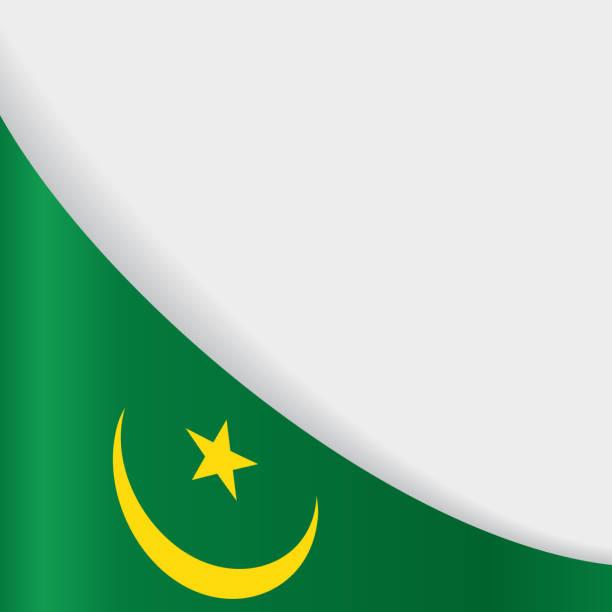 Mauritanian flag background. Vector illustration. vector art illustration