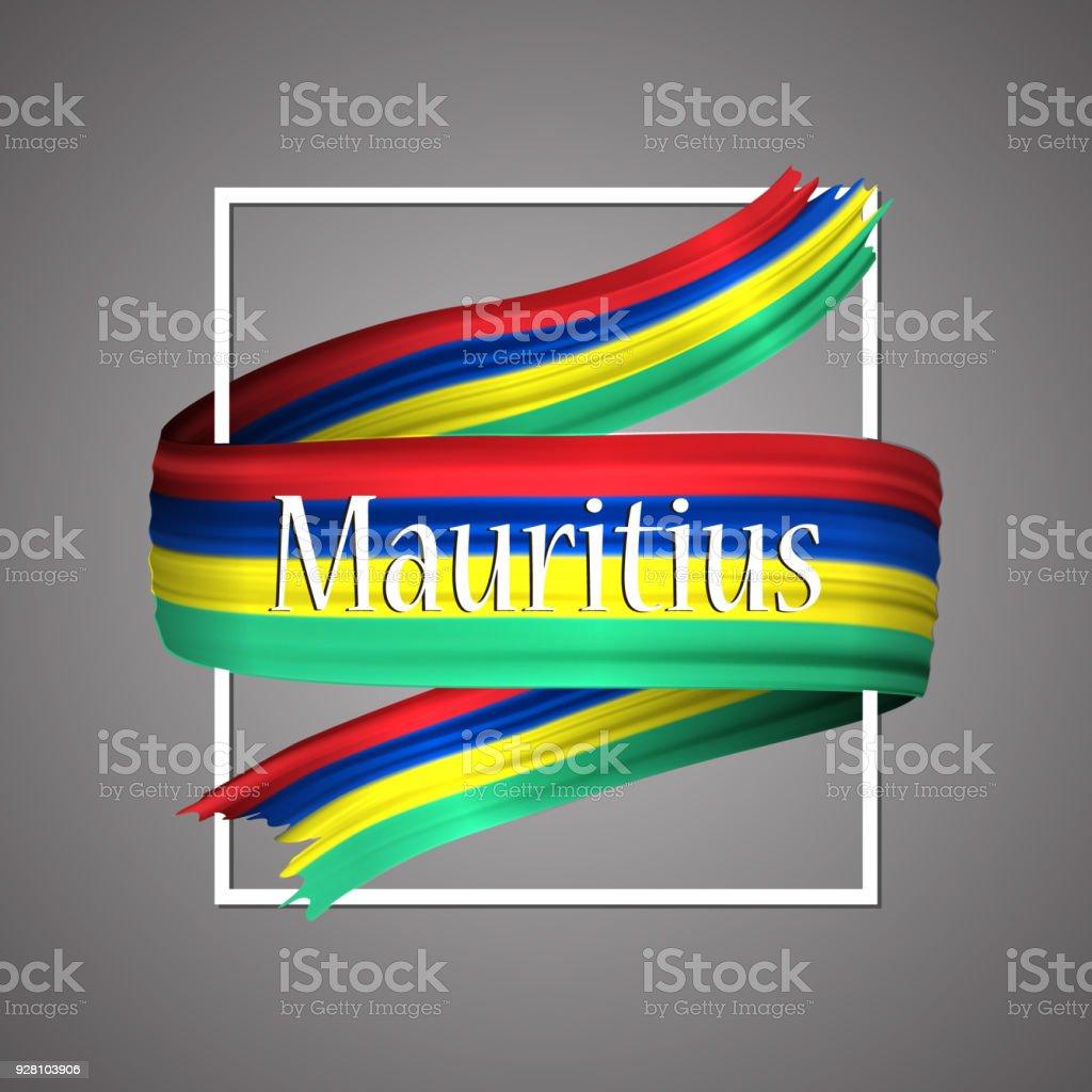 Flagge Von Mauritius Offiziellen Nationalfarben Mauritiusie 3d ...