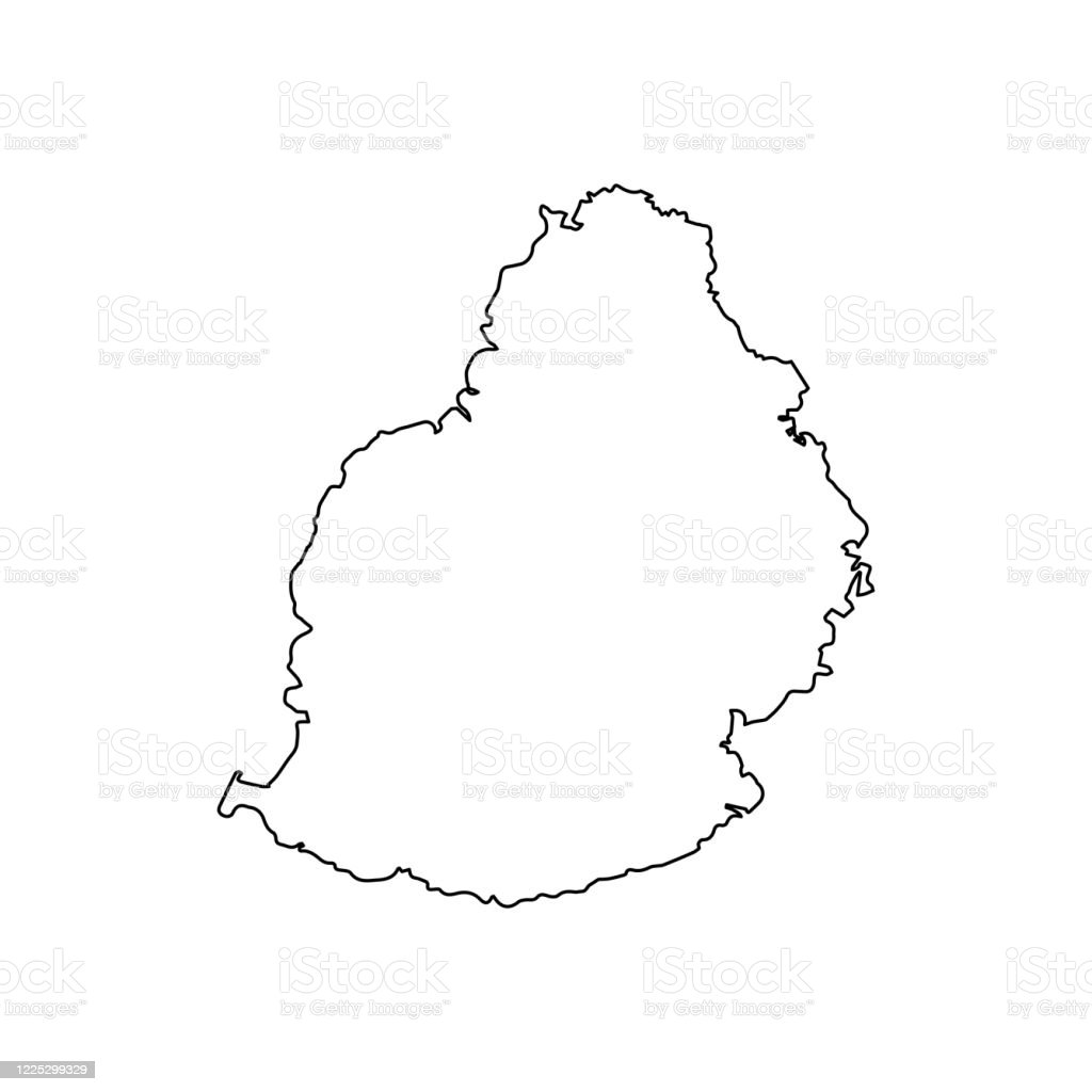 Picture of: Mauritius Map Line Outline Country Africa Map Illustration Vector African Isolated On White Background Stock Illustration Download Image Now Istock