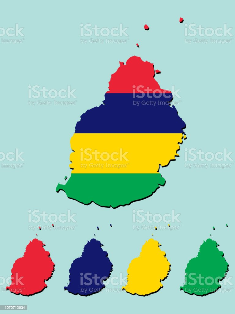 Mauritius Map Stock Vector Art More Images Of Africa Istock