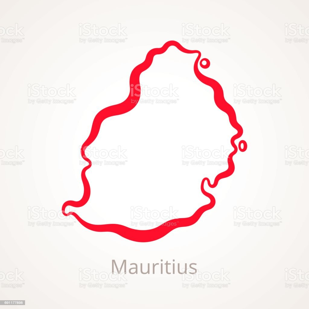Mauritius Outline Map Stock Vector Art & More Images of Country ...