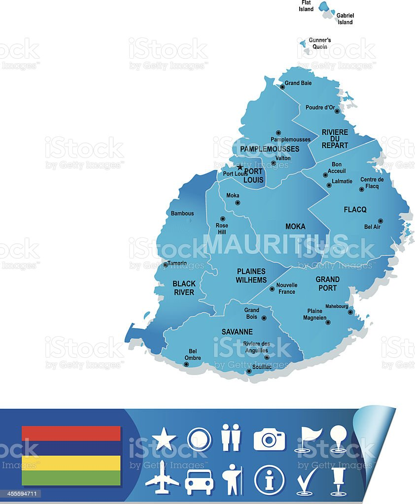 Mauritius vector map royalty-free stock vector art