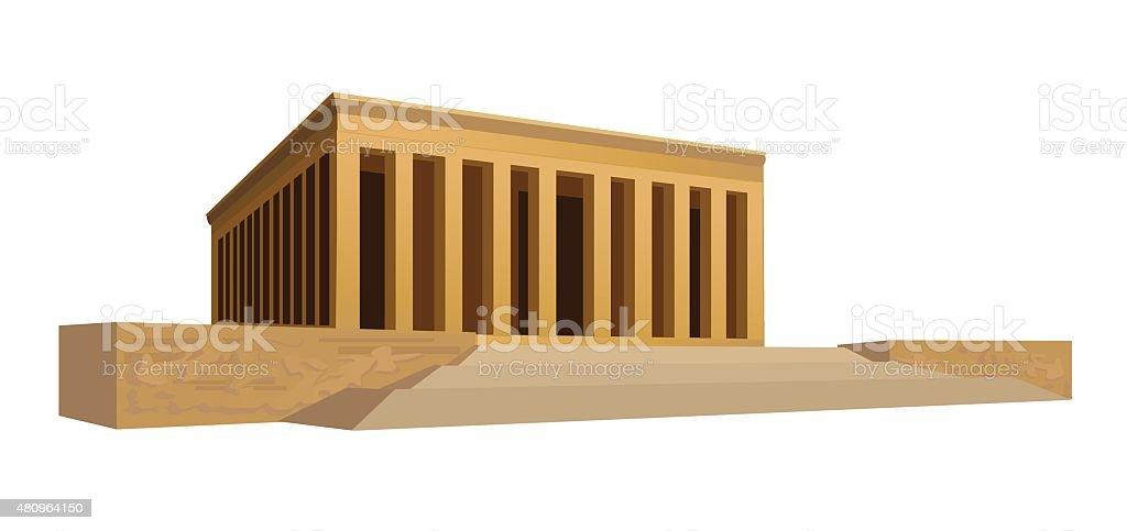 Mausoleum vector art illustration