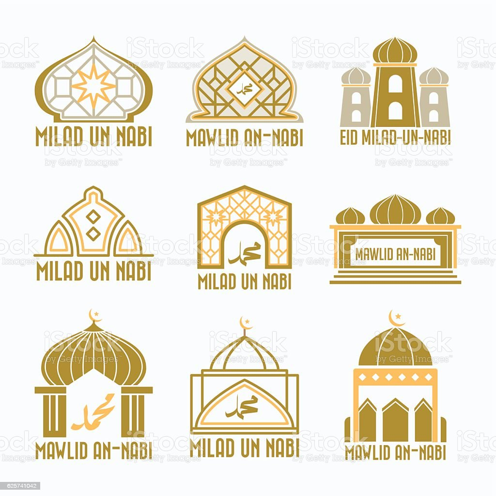 Cool Milad Eid Al-Fitr Greeting - mawlid-badge-milad-un-nabi-greet-vector-id625741042  HD_765986 .com/vectors/mawlid-badge-milad-un-nabi-greet-vector-id625741042