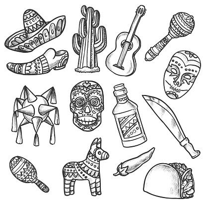 Maxico Doodle Set