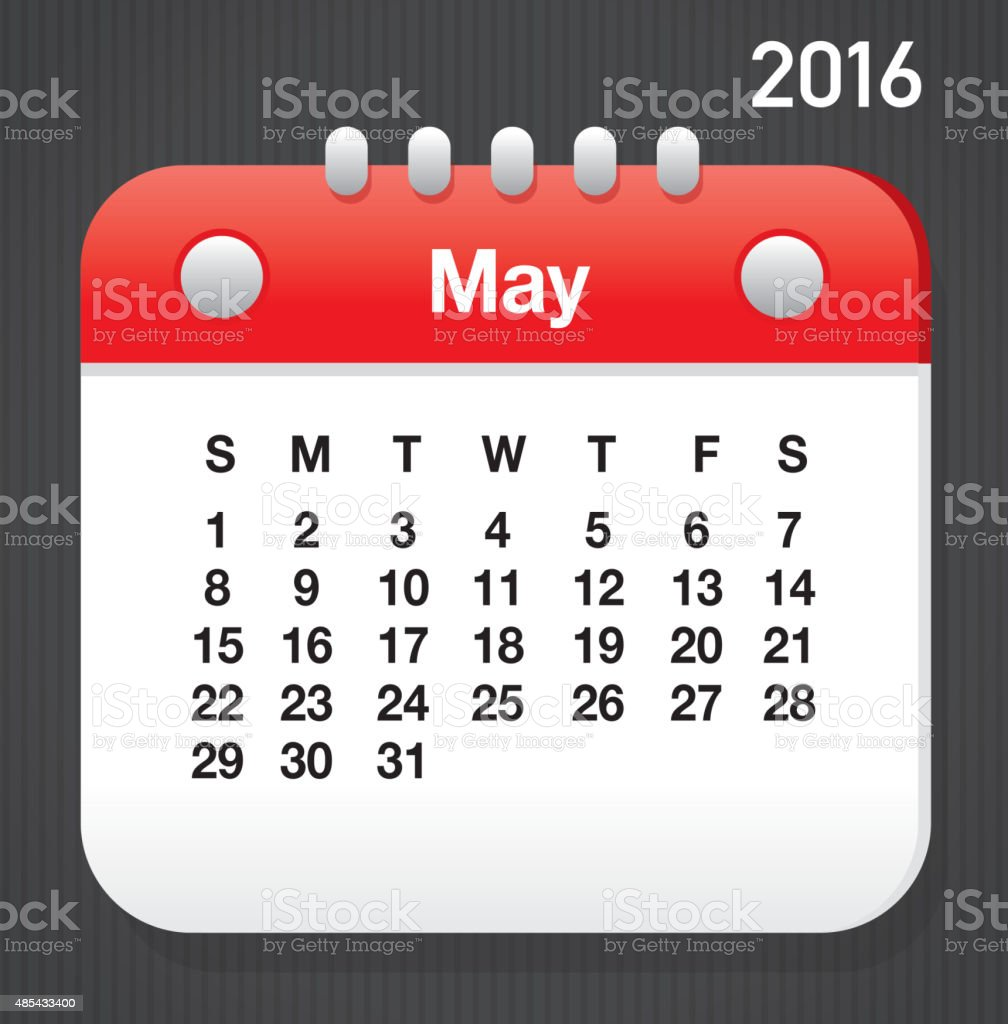 photograph regarding Printable Layout known as Could possibly 2016 Generic Printable Calendar Structure Template Style Inventory Example - Down load Graphic Currently