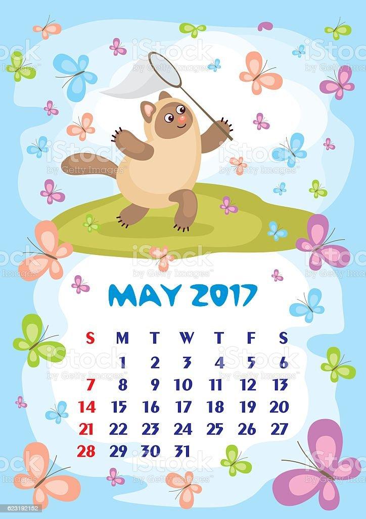 May Calendar Vector : May calendar stock vector art more images of