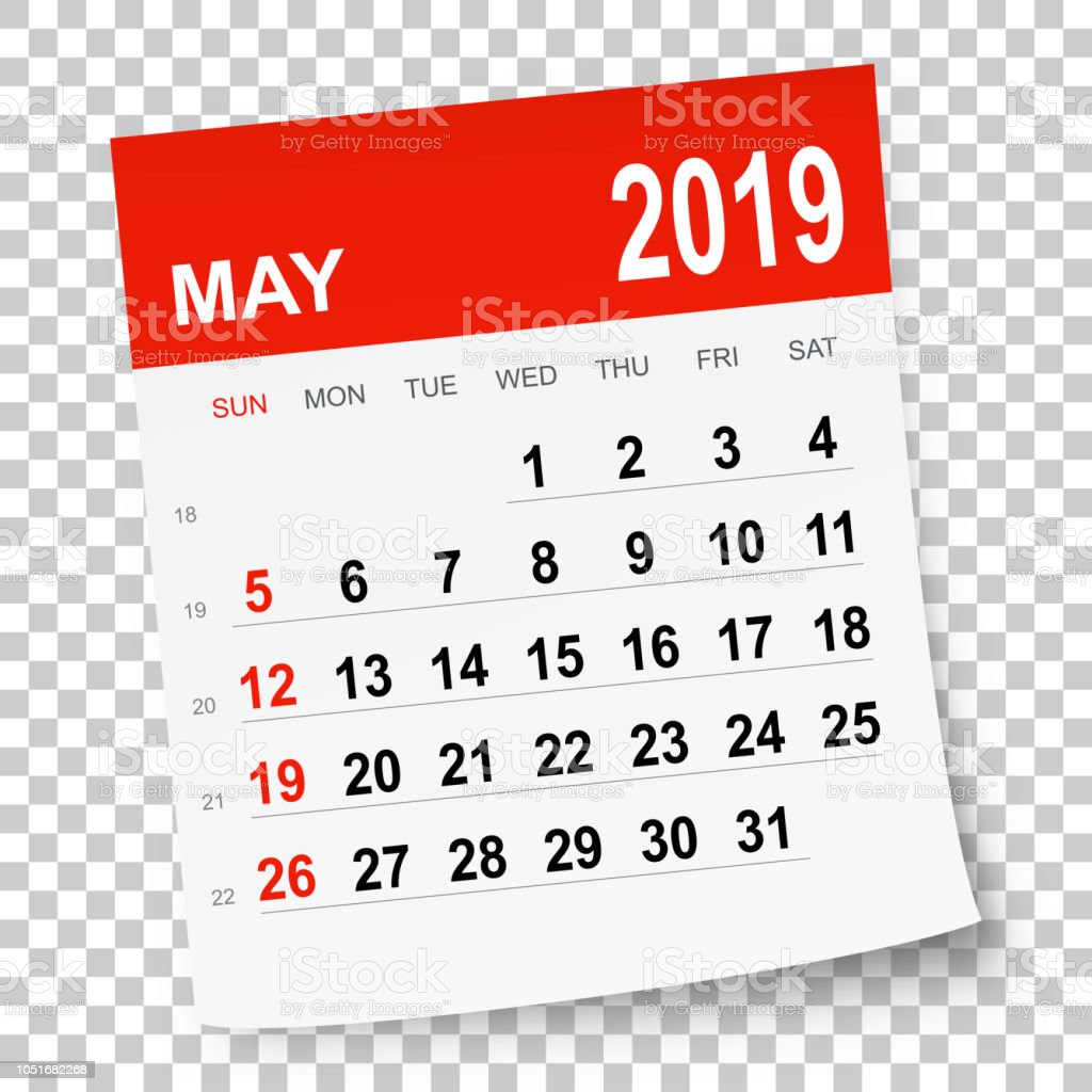 May 2019: May 2019 Calendar Stock Vector Art & More Images Of 2019