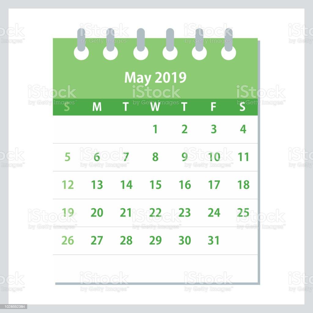 19年 5 月フラット カレンダーですカレンダー デザイン テンプレート 19年のベクターアート素材や画像を多数ご用意 Istock