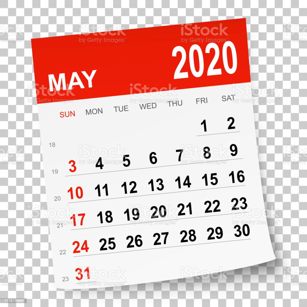 May 2020 Calendar - Royalty-free 2020 stock vector