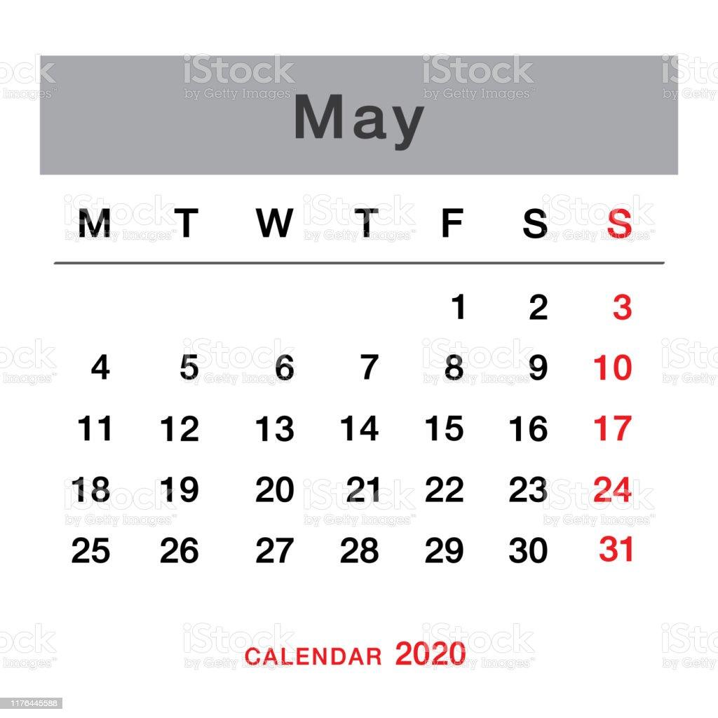 年5月計画カレンダーシンプルな年5月カレンダー週は月曜日から始まります5月のカレンダーのテンプレート 19年のベクターアート素材や画像を多数ご用意 Istock