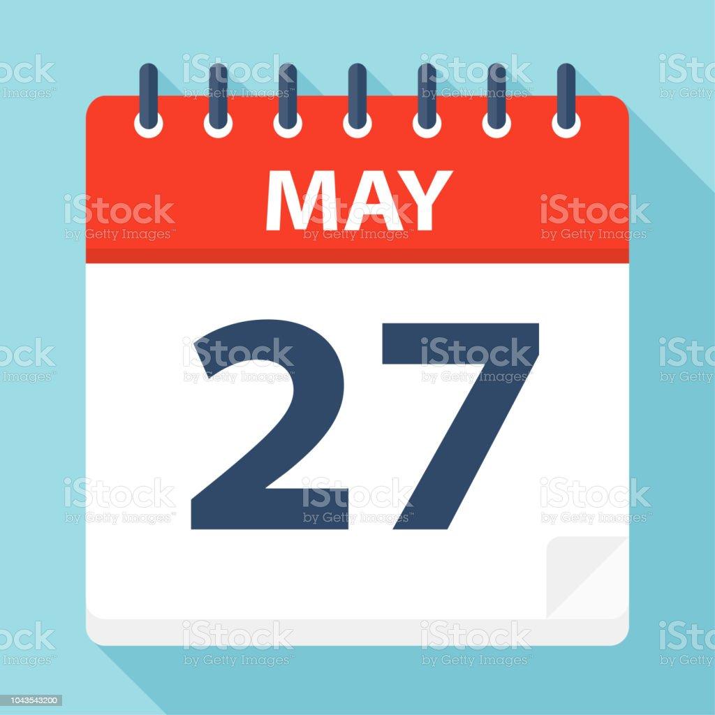 5 月 27 日 カレンダー アイコン - アイコンのベクターアート素材や ...