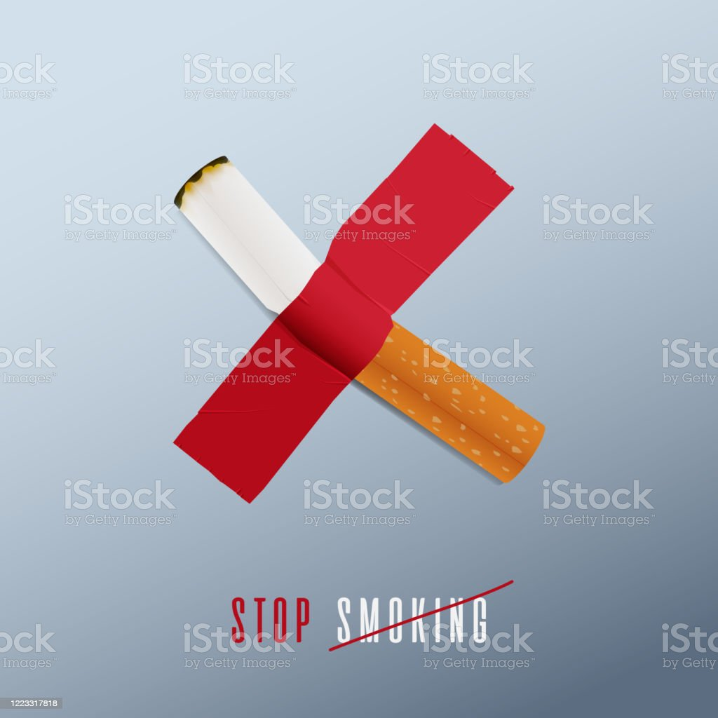 May 31st World No Tobacco Day Concept Design No Smoking Day Poster Stop Smoking Sign For Awareness Infographic Cigarette Was Ducttaped On The Wall Defines To Stop Smoking Poster Or Banner Vector