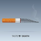 May 31st World No Tobacco Day. Poison of cigarette. Vector.