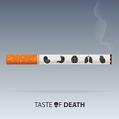 May 31st World No Tobacco Day poster. Poison of cigarette