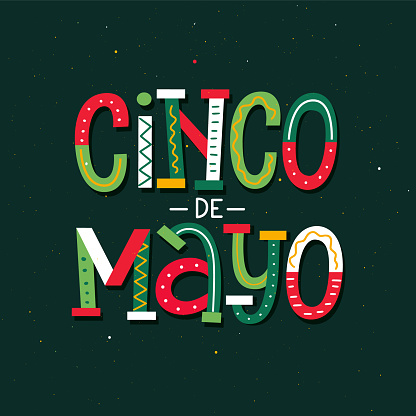 May 5th Mexican holiday celebration poster design