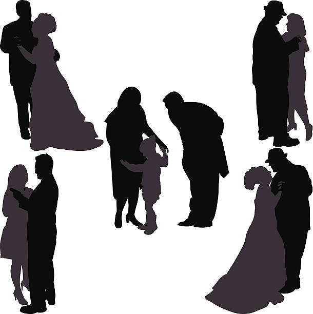 may i have this dance - father daughter wedding dance stock illustrations, clip art, cartoons, & icons